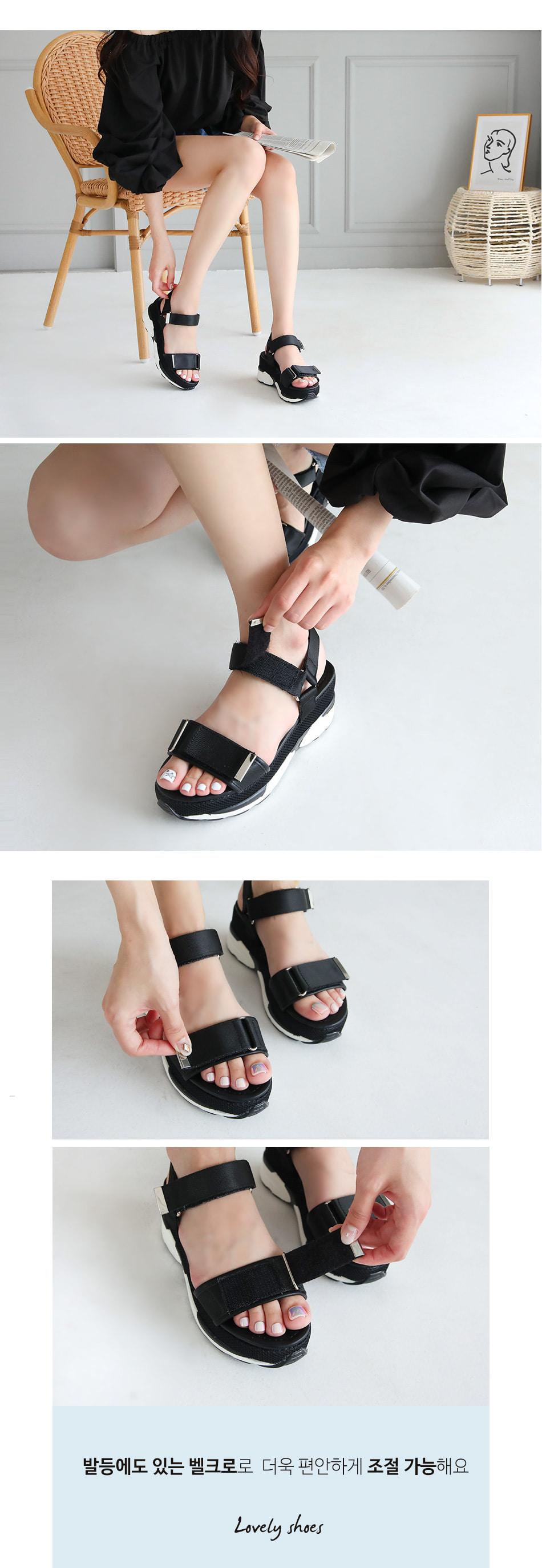 Revent Velcro Tongue Sandal 6cm