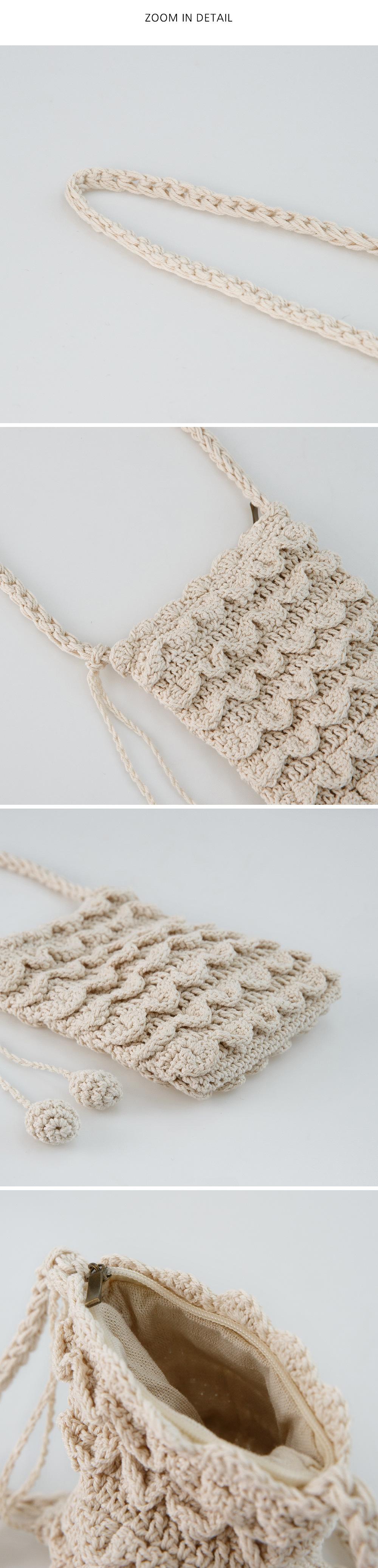 minimal knit cross bag