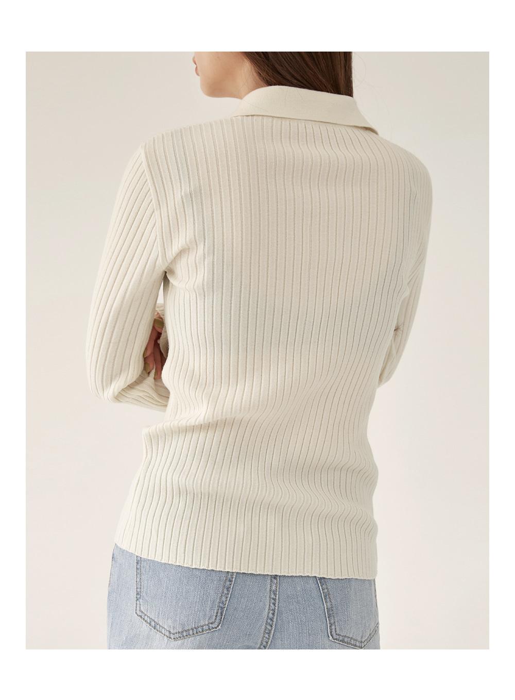 jade golgi collar knit
