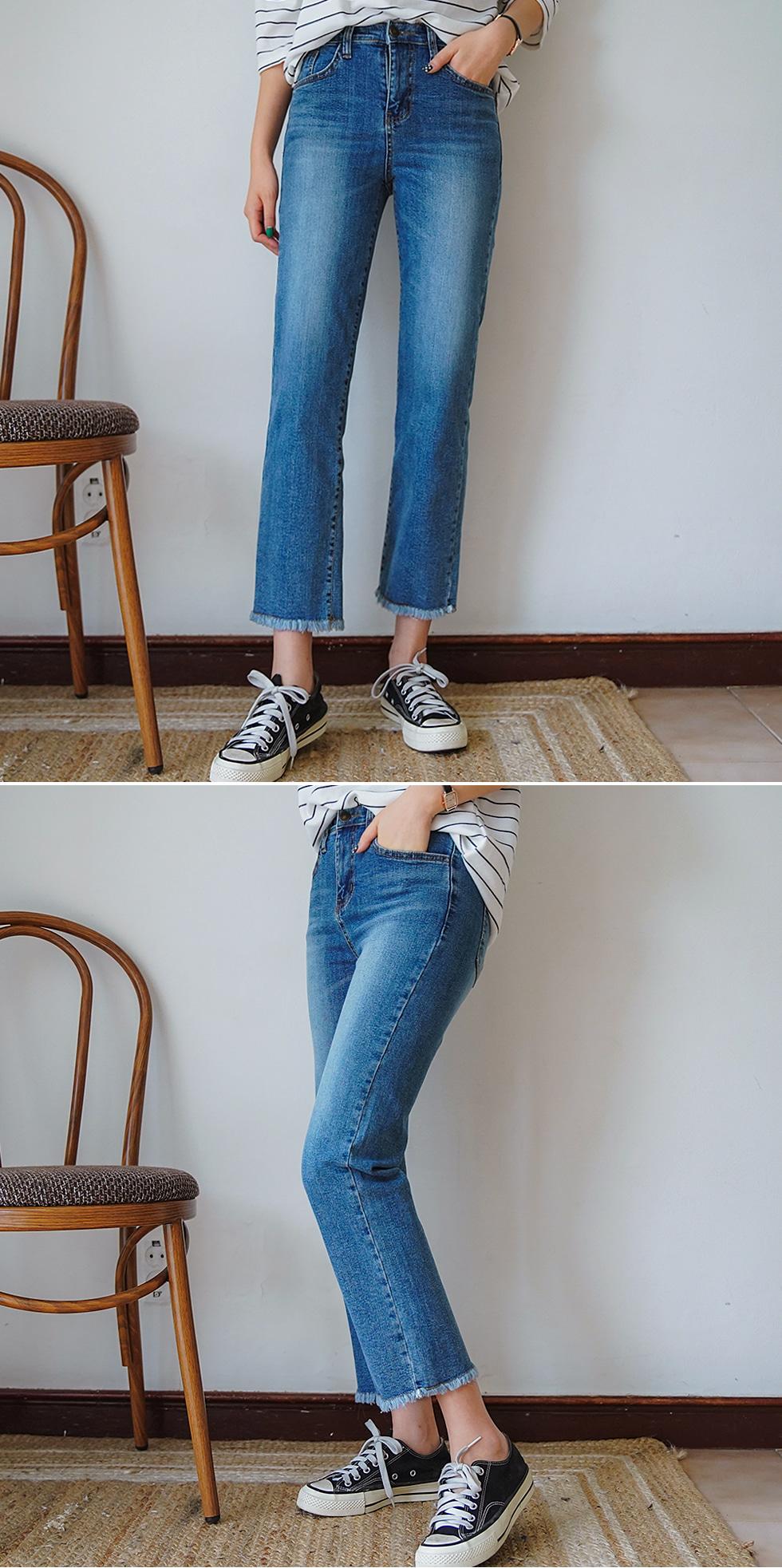 Wit denim pants