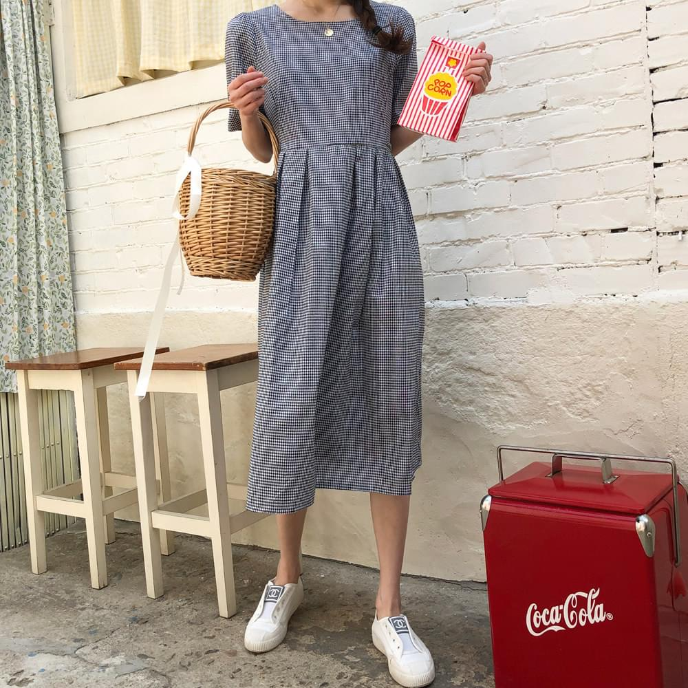 Cookie Check Long Dress