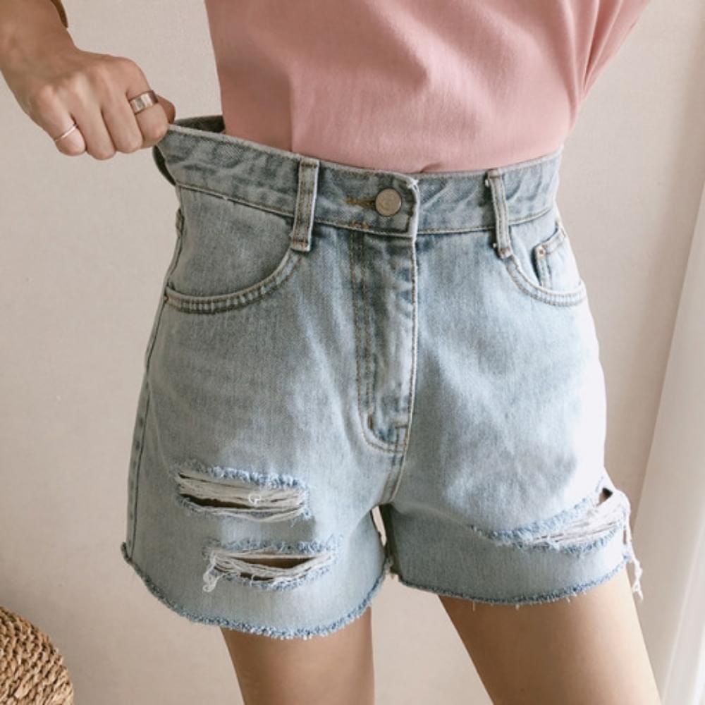 3 pieces damage short pants