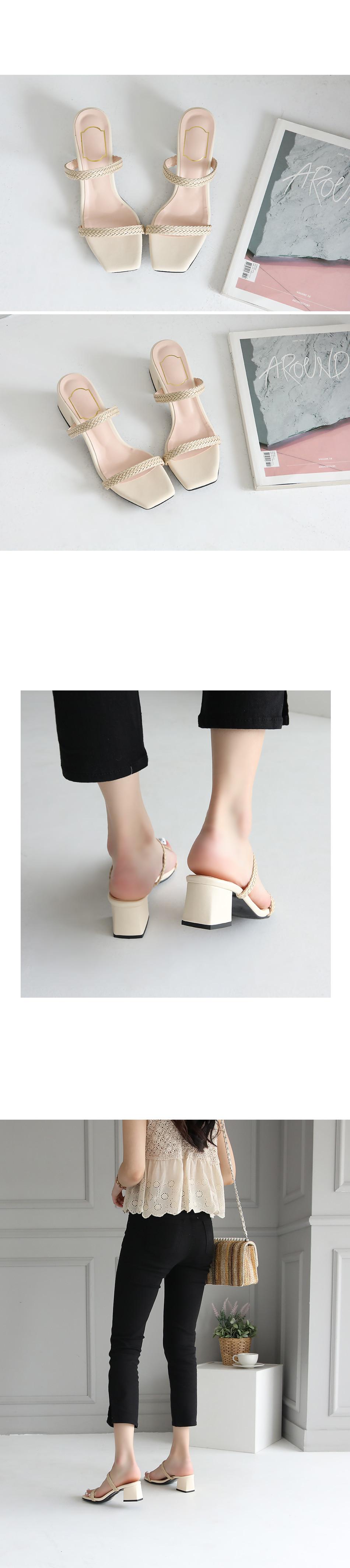 Delon's Mule Slippers 5cm