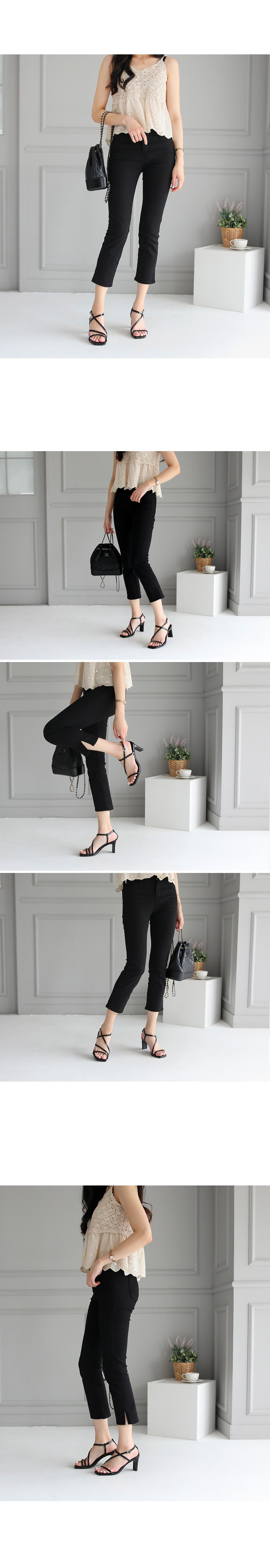 Cellar strap sandals heel 7cm