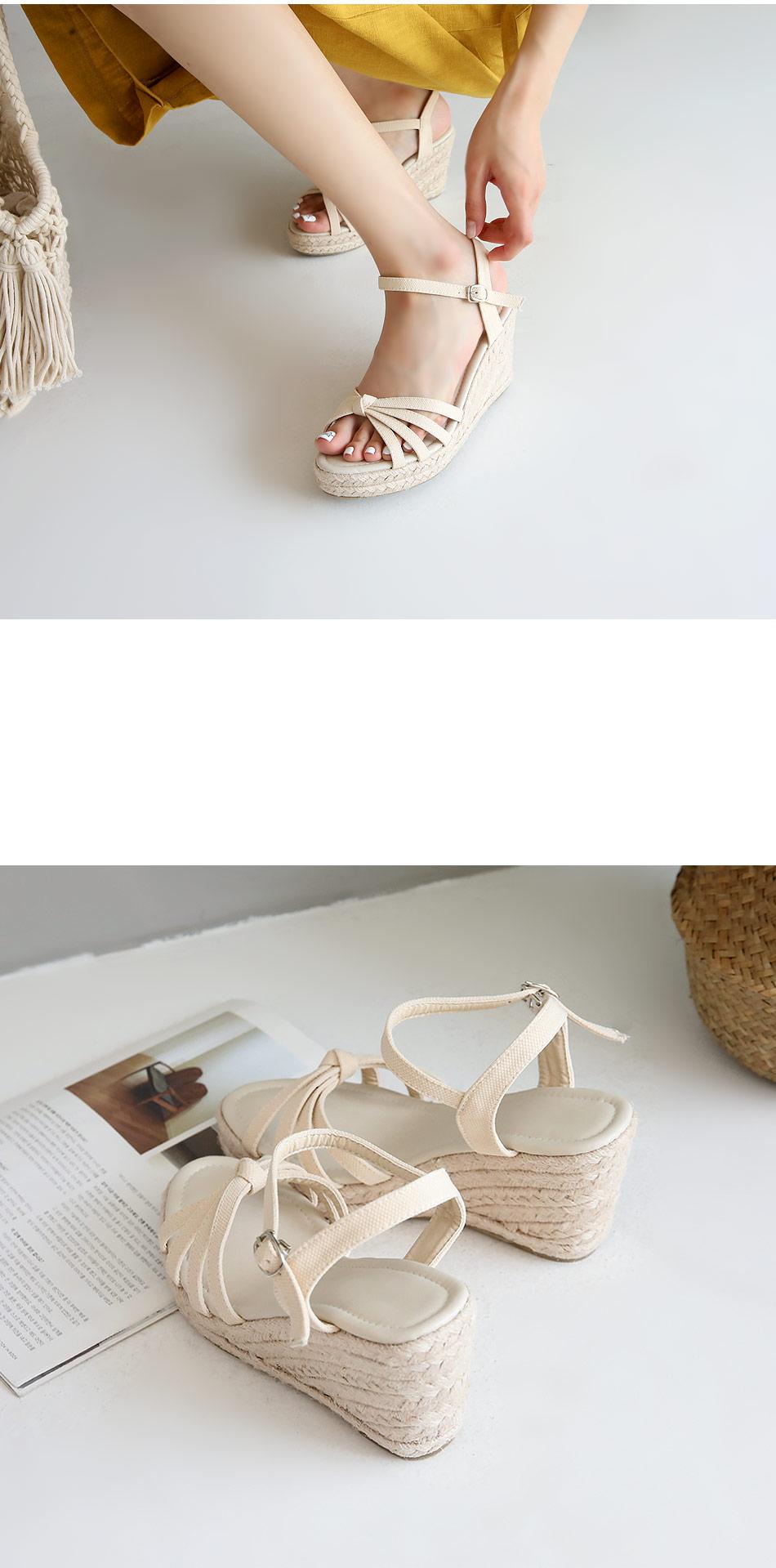 Da Piia wedge strap sandals 8cm