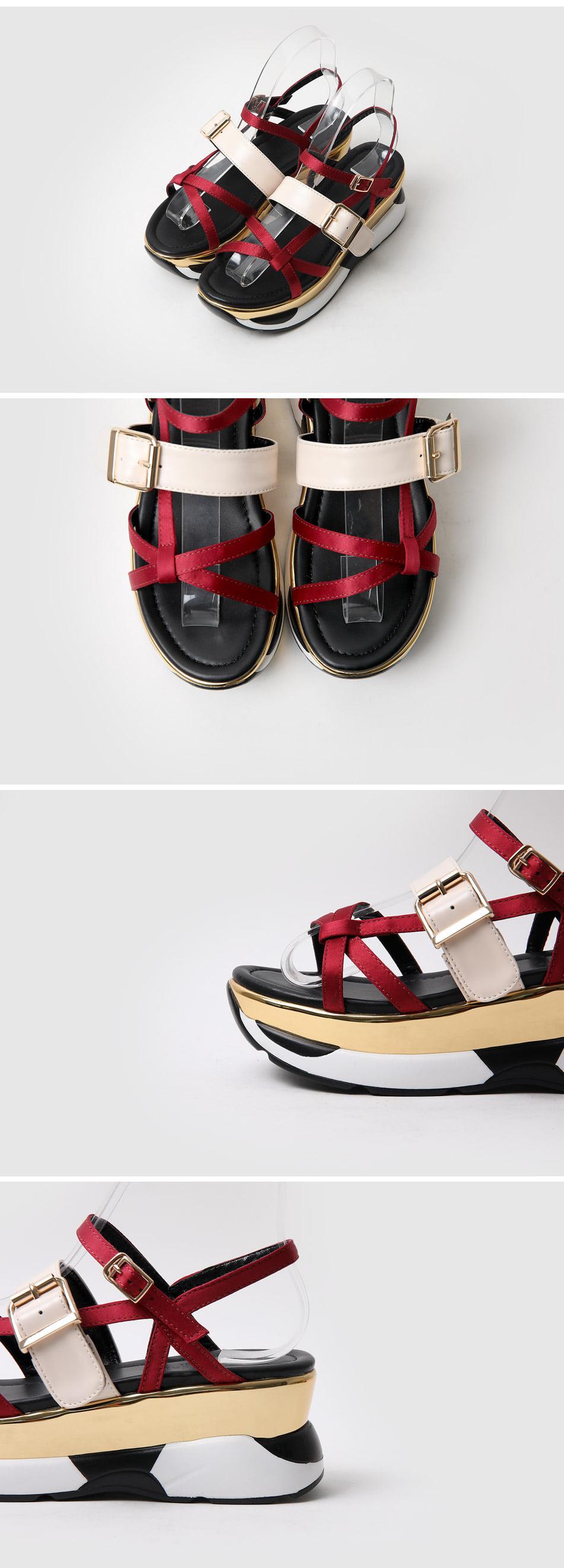 Secret Tongue Strap Sandals 6cm