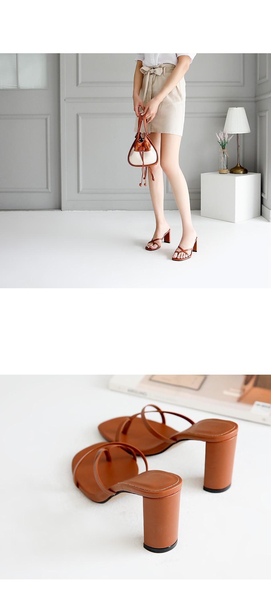 Eniassa mule slippers 8cm