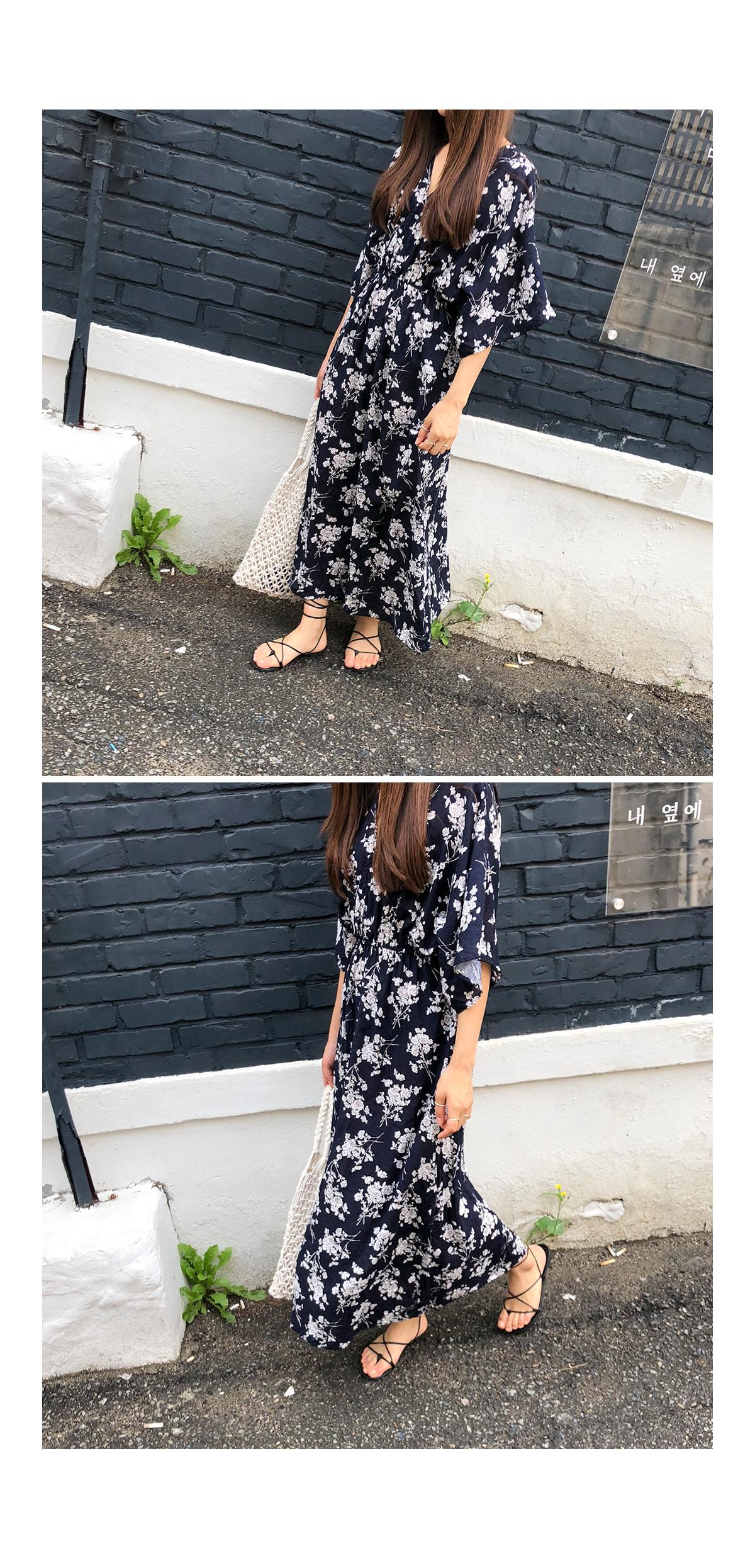 Maxi Lea Flower Dress