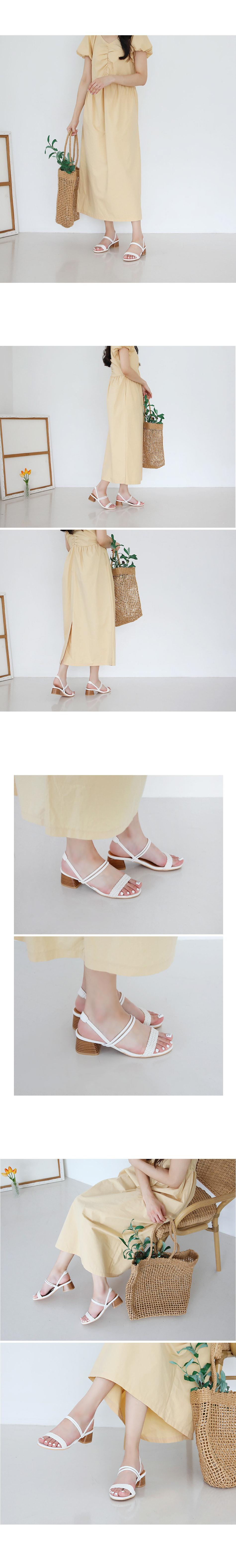 Reptile Slingback Sandals 4cm