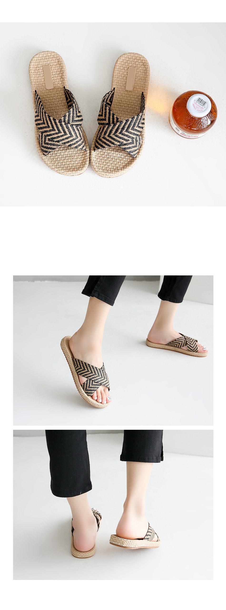 This Kellen Ratan Slippers 2cm
