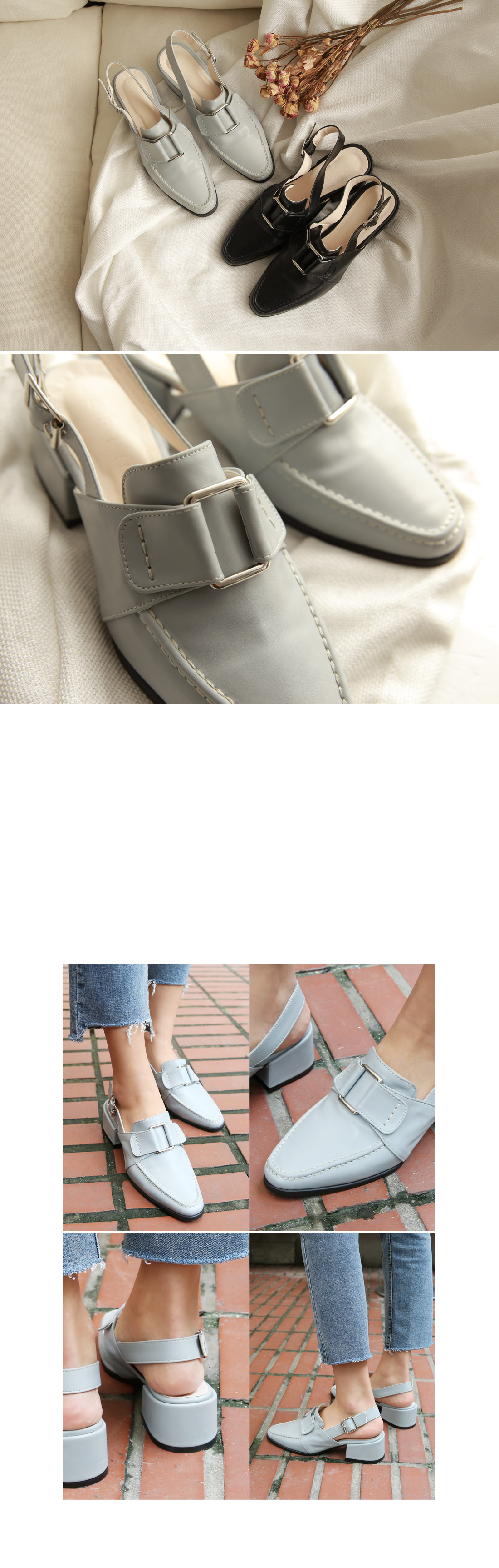 Each buckle shoes
