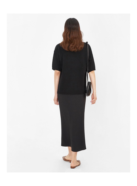 row v-neck half knit
