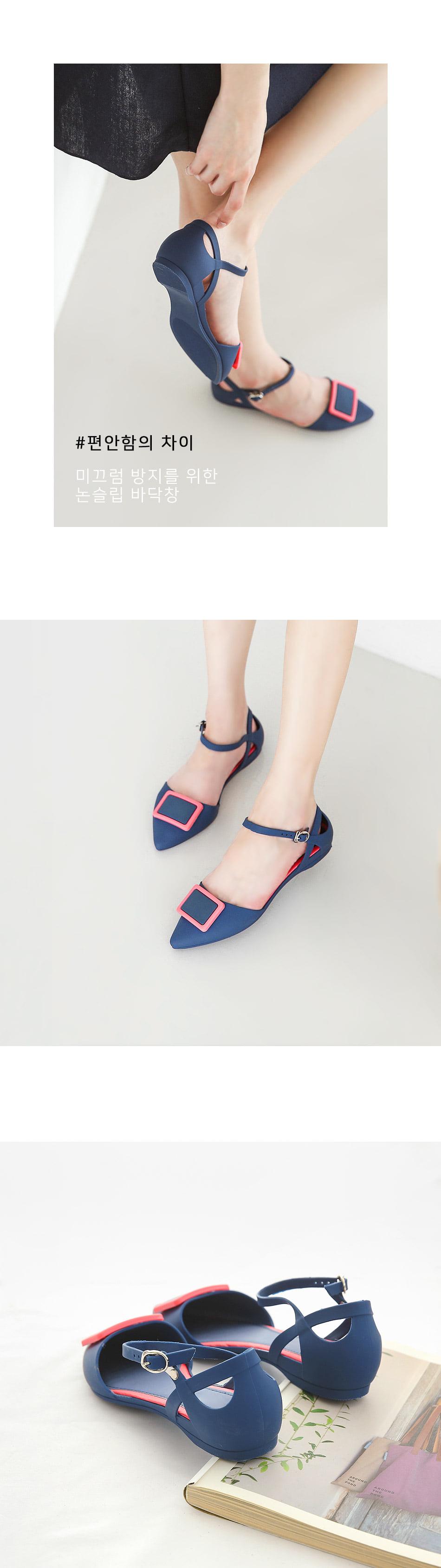 Letsa strap height flat shoes 2cm