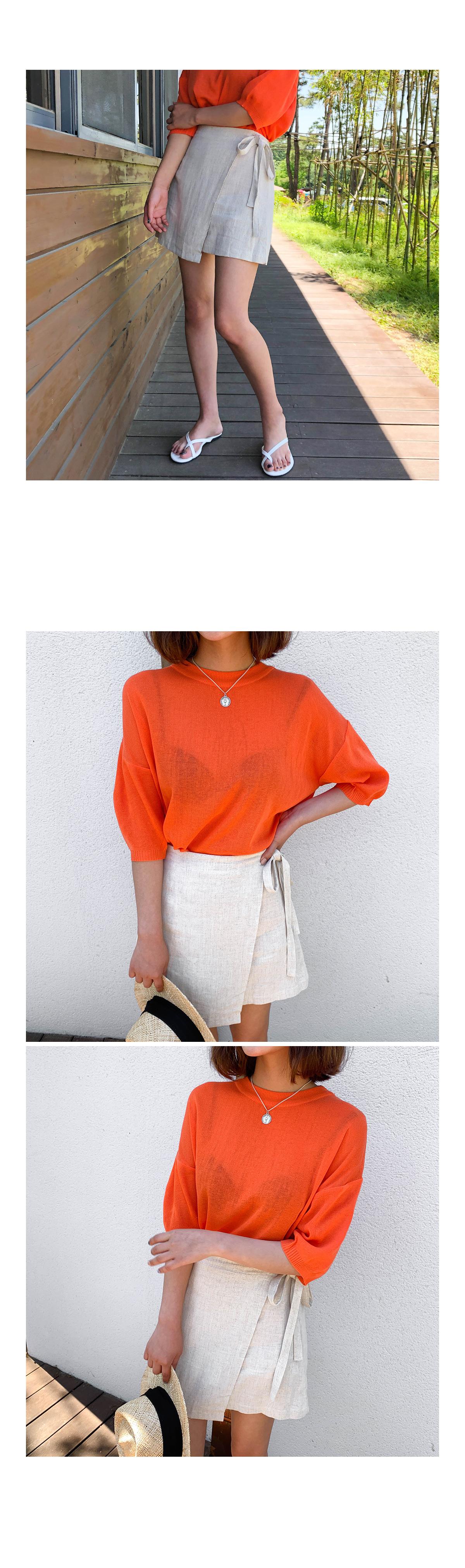 Linen lunn lab mini skirt