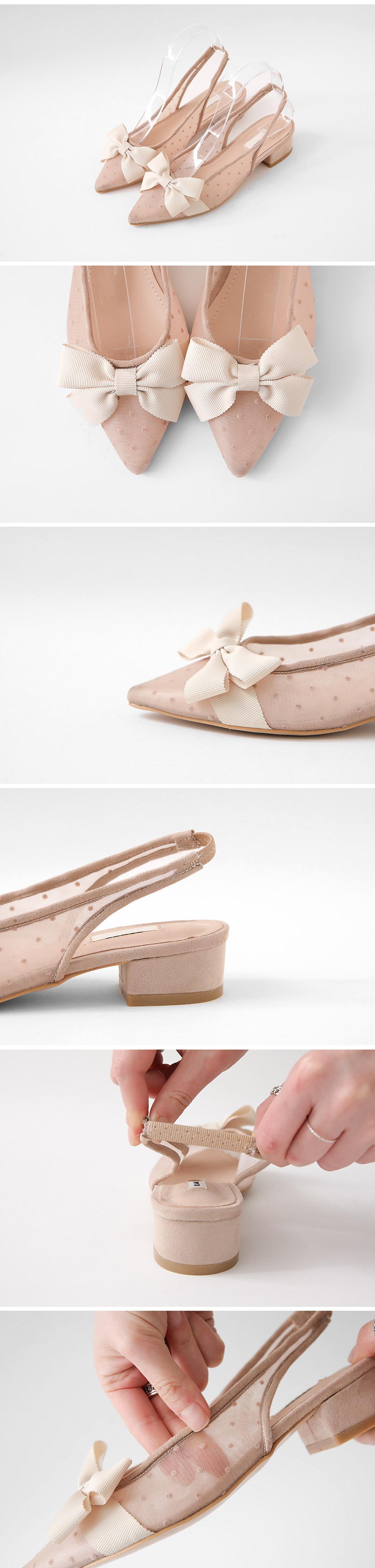 Carne Slingback flat shoes 3cm