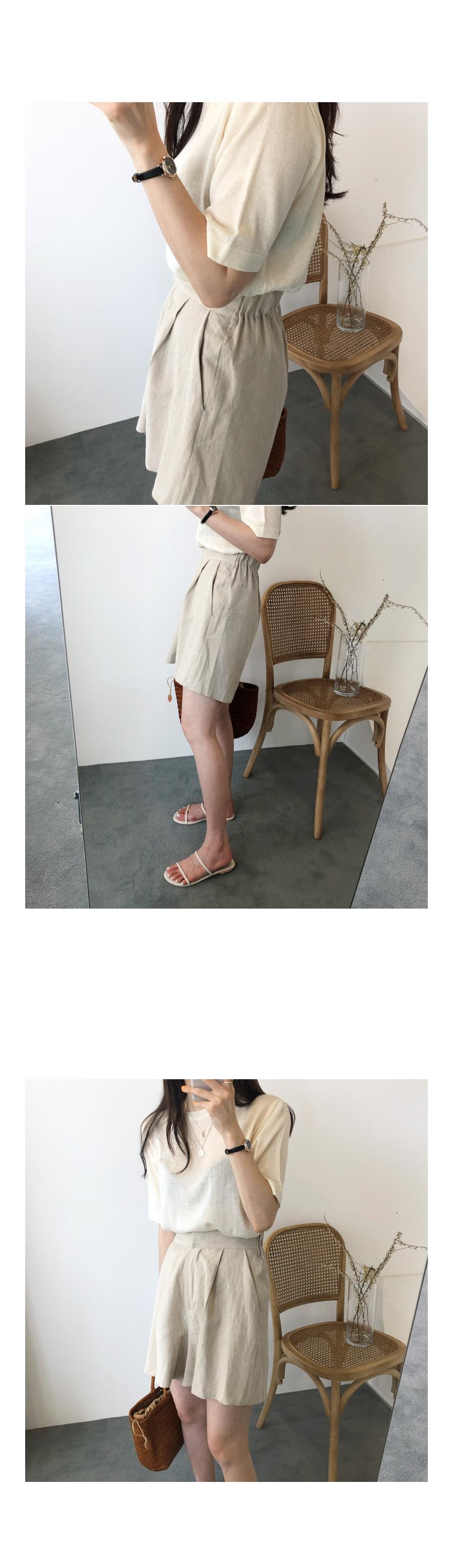 Logian knit cream black