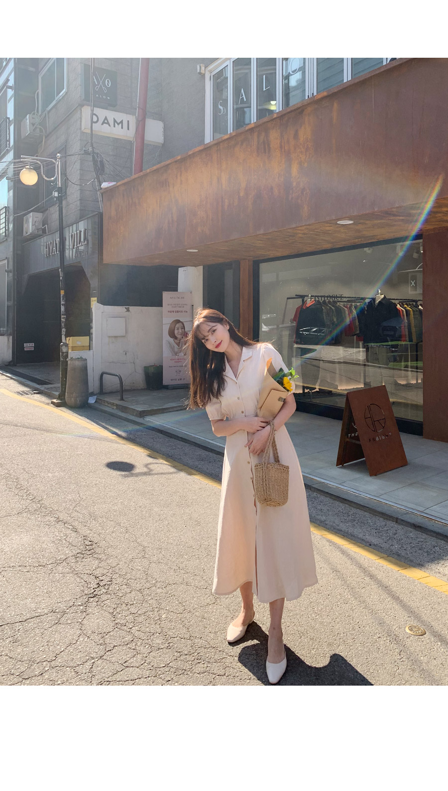 About Cotton Flare Long Dress