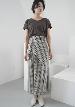 irregular wrap skirt