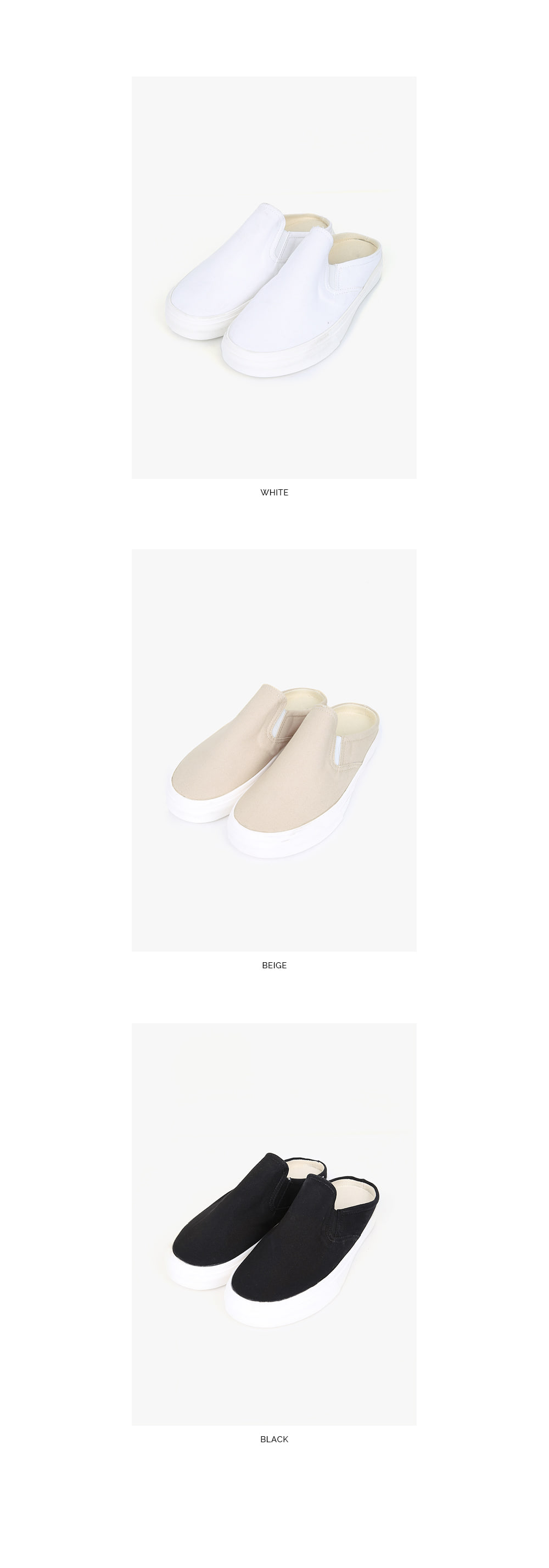 casual slip-on shape slipper (s, m, l)