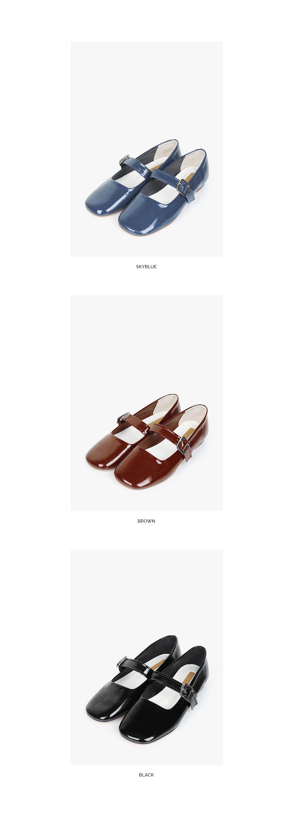 try enamel flat shoes (230-250)