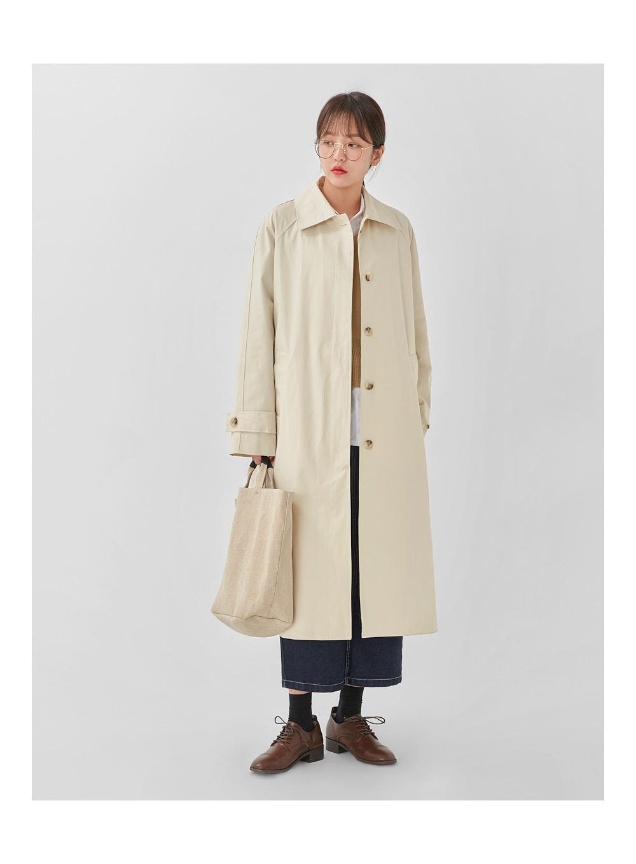 creamy trench coat