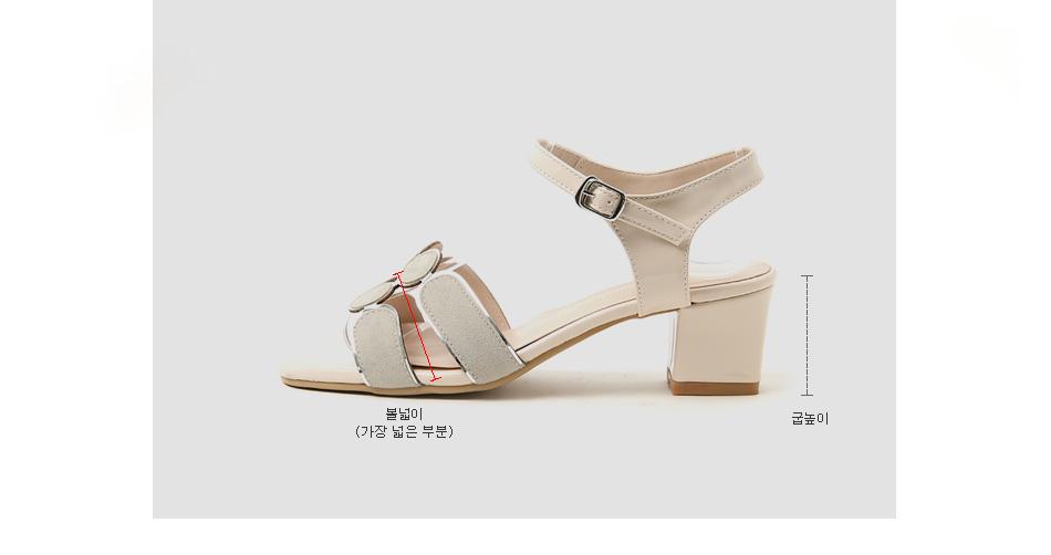 Warren's strap sandals 5cm
