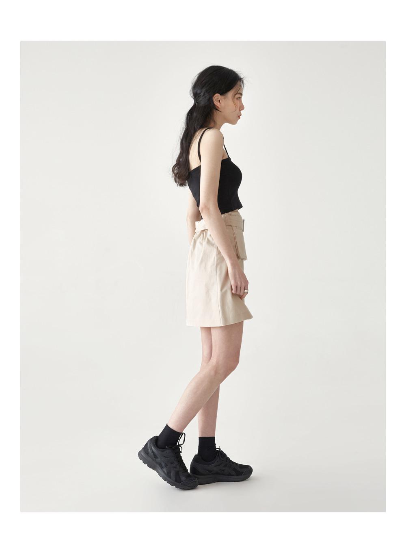 unbalance strap sleeveless