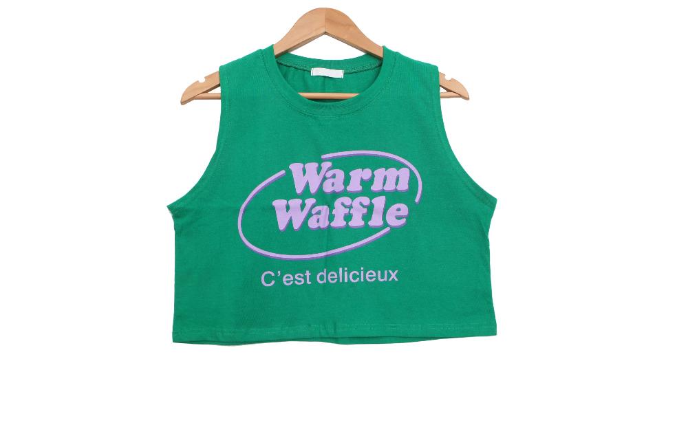 Waffle Crop Nasi