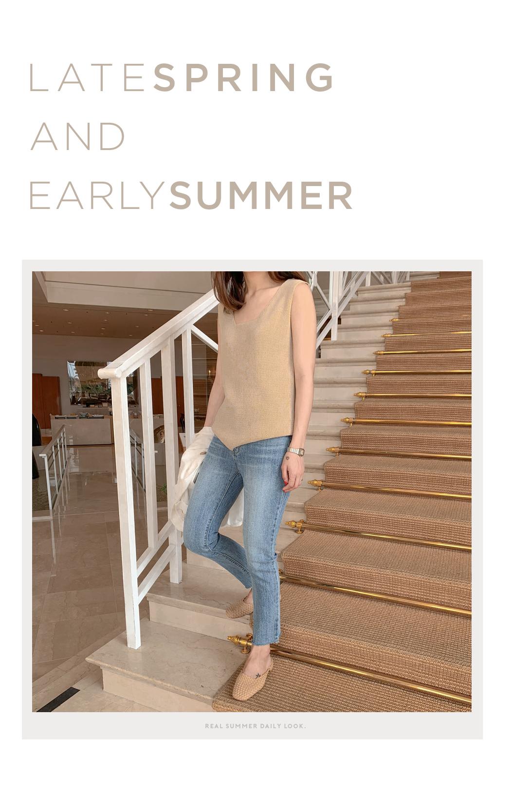 Square Neck Summer Knit Nashi