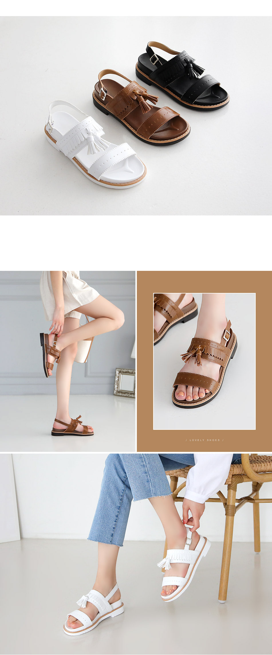 Refined Sling Back Sandals 4.5cm