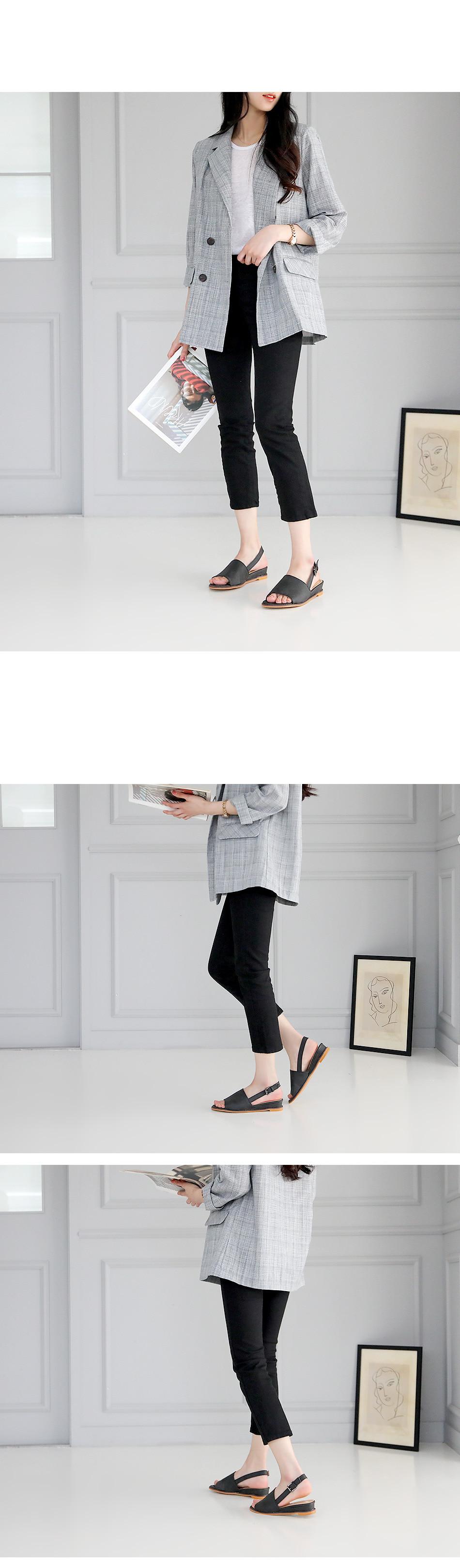 This dense slingback sandals 3cm