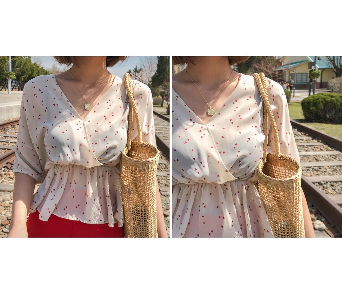 Wrap Dressing Heart Blouse