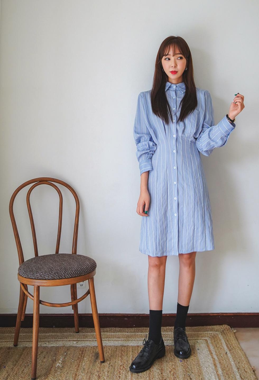 Mood pin tuck dress