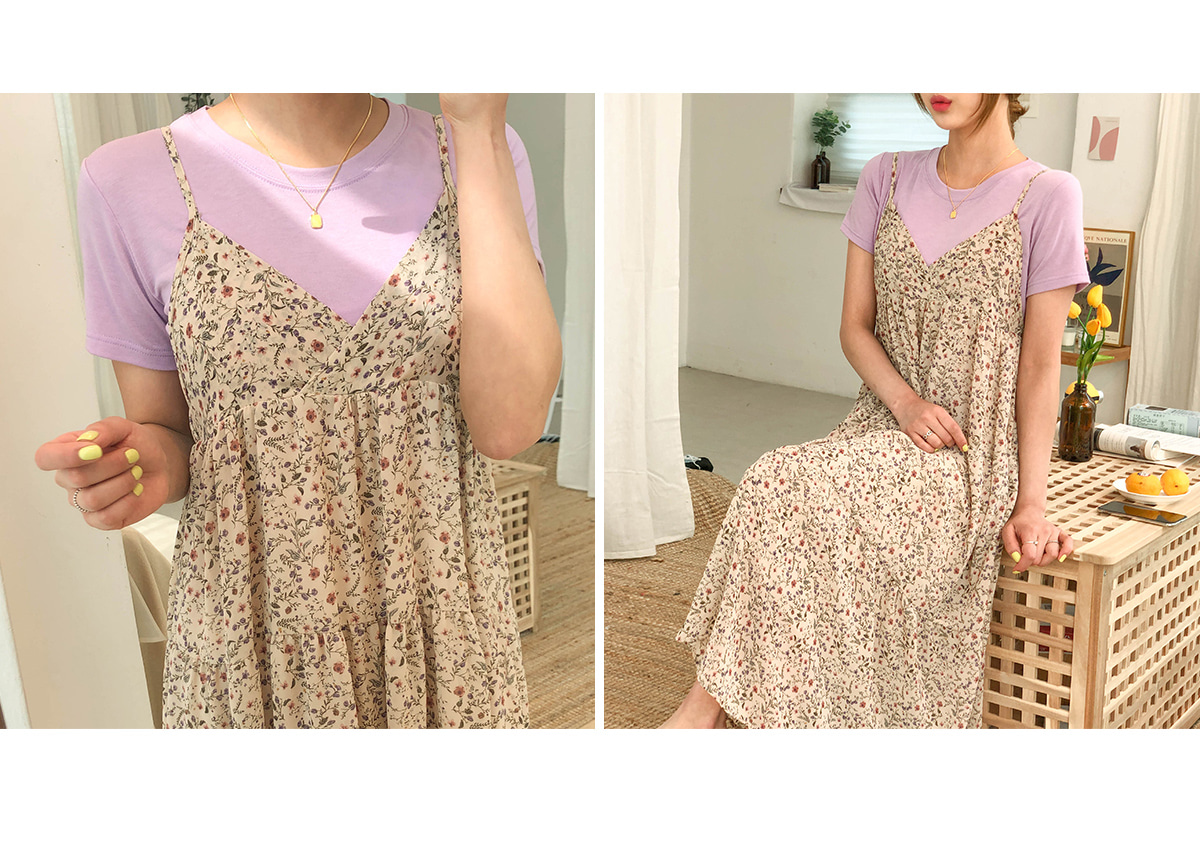 Flower Ari bustier long dress