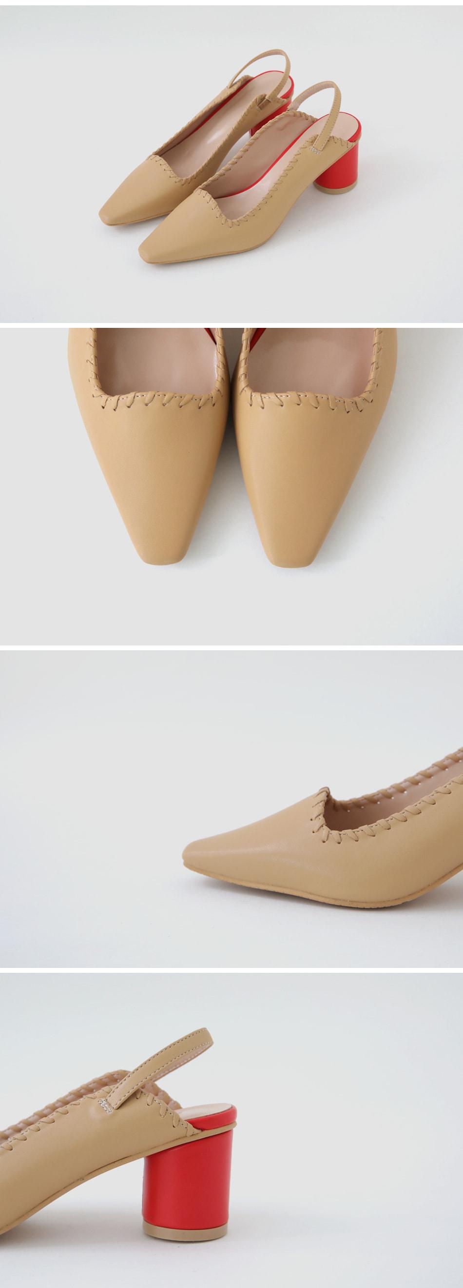 Monican Slingback Middle Heel Pumps 6cm