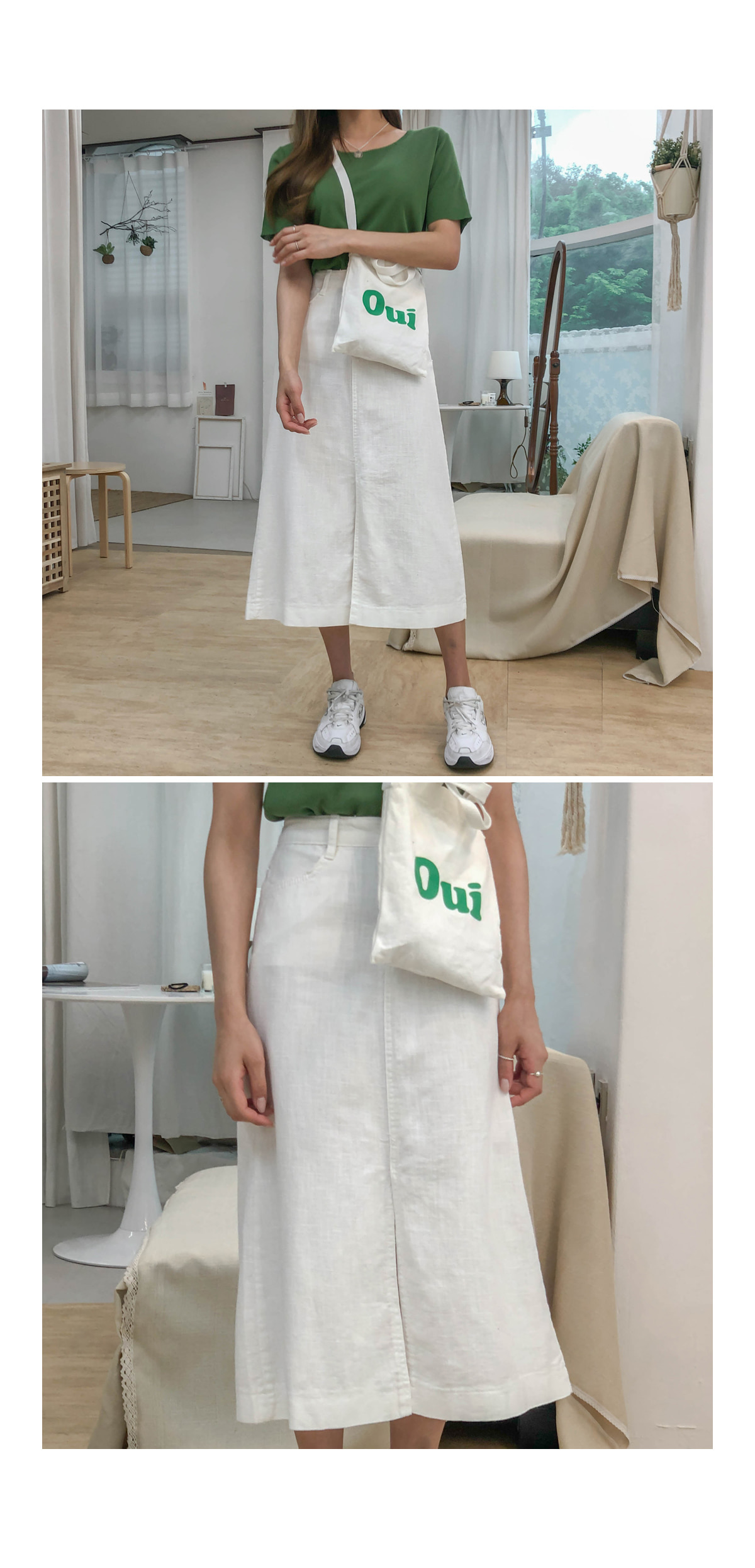 Linen muantt skirt