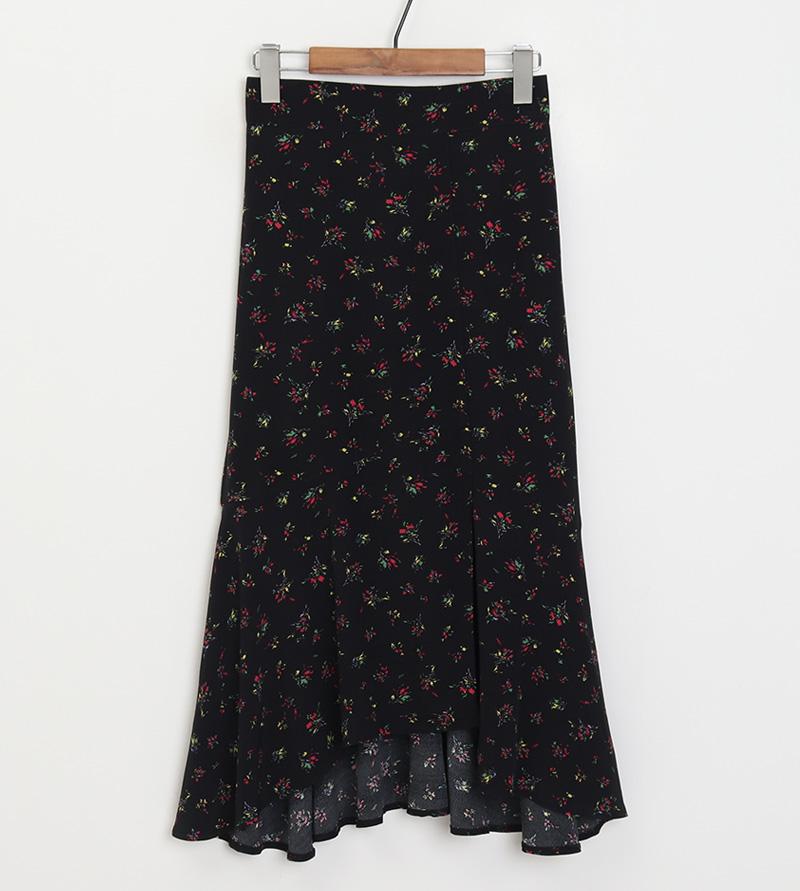 Flower mermaid long skirt_A