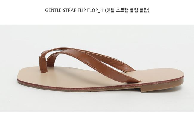 Gentle strap flip flop_H