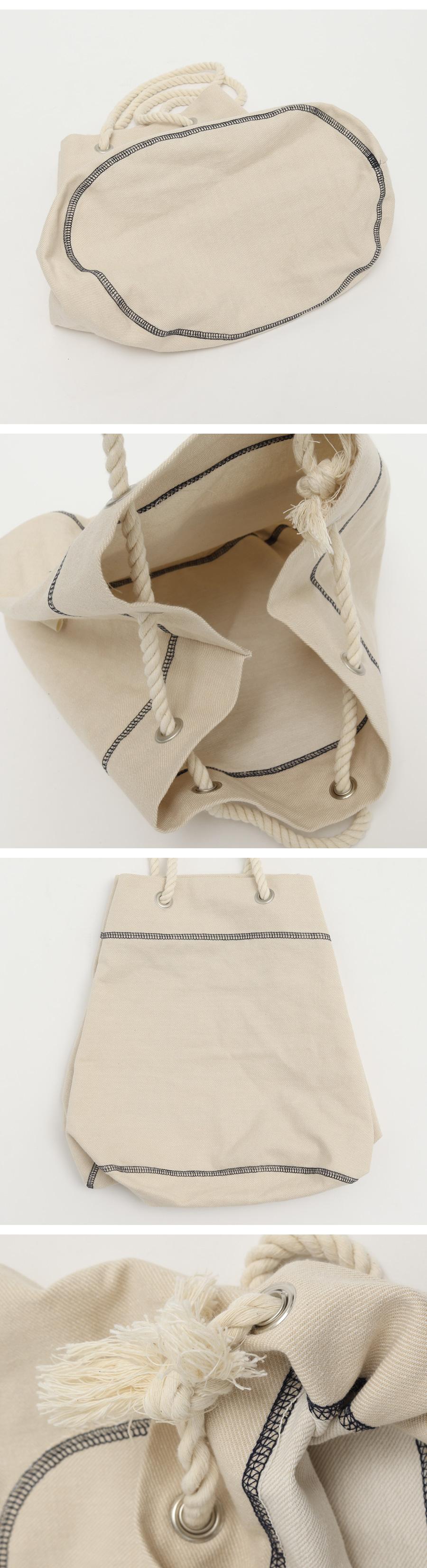 Rope stitch pocket bag_C