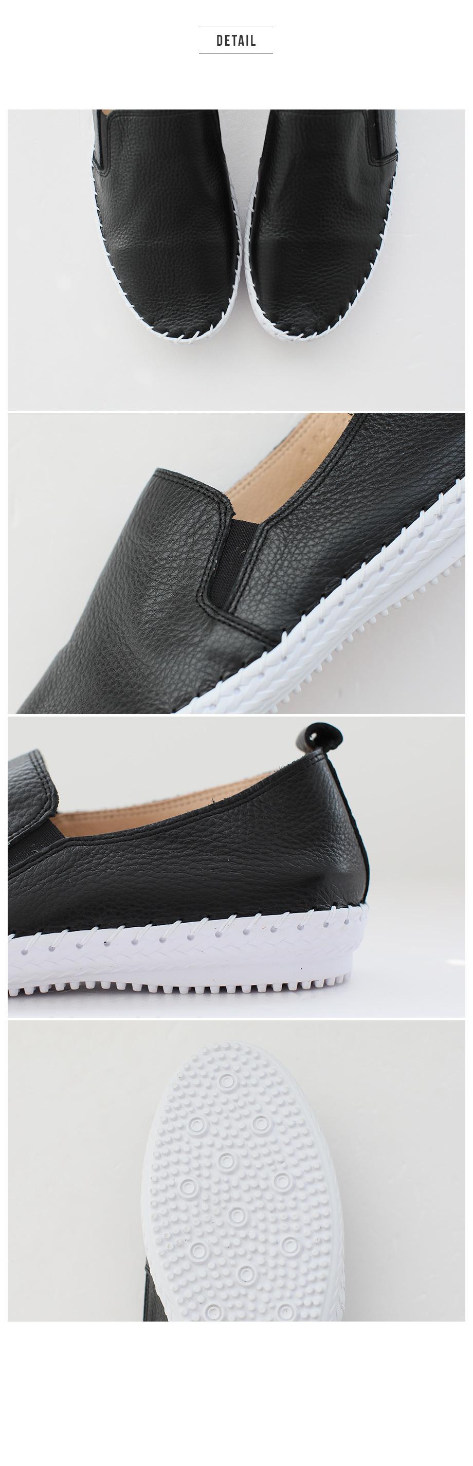 Peydin high-key leather slip-on 5cm