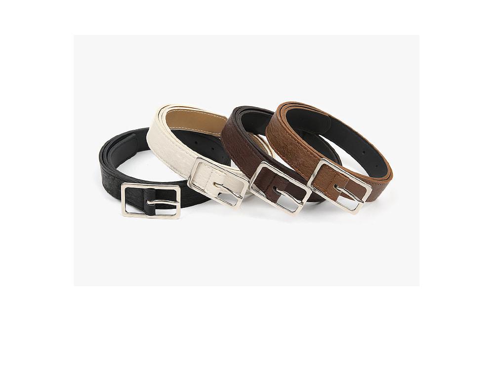 thin square frame belt