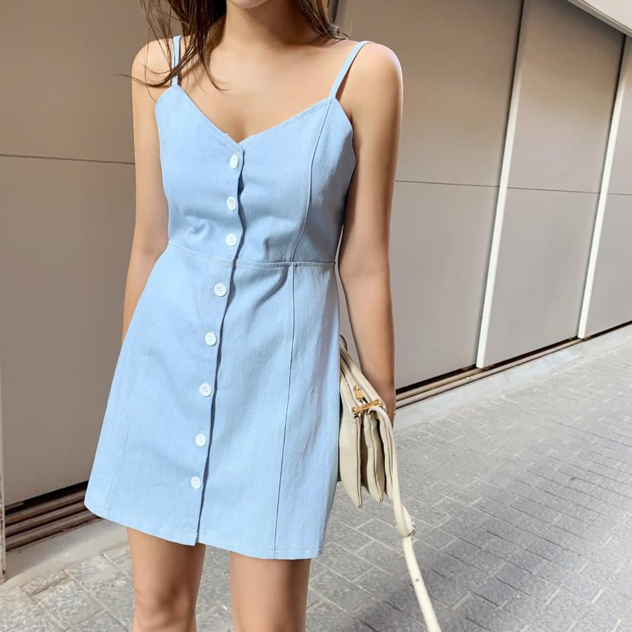 Button mini dress