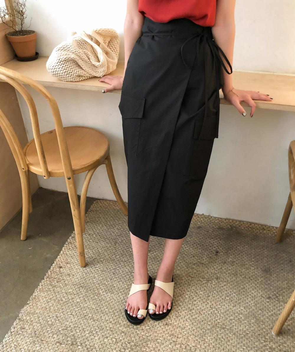 big pocket long skirt