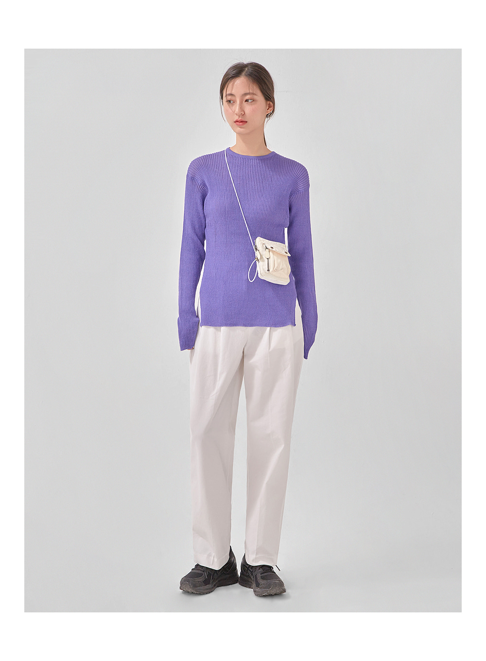 plan straight cotton pants