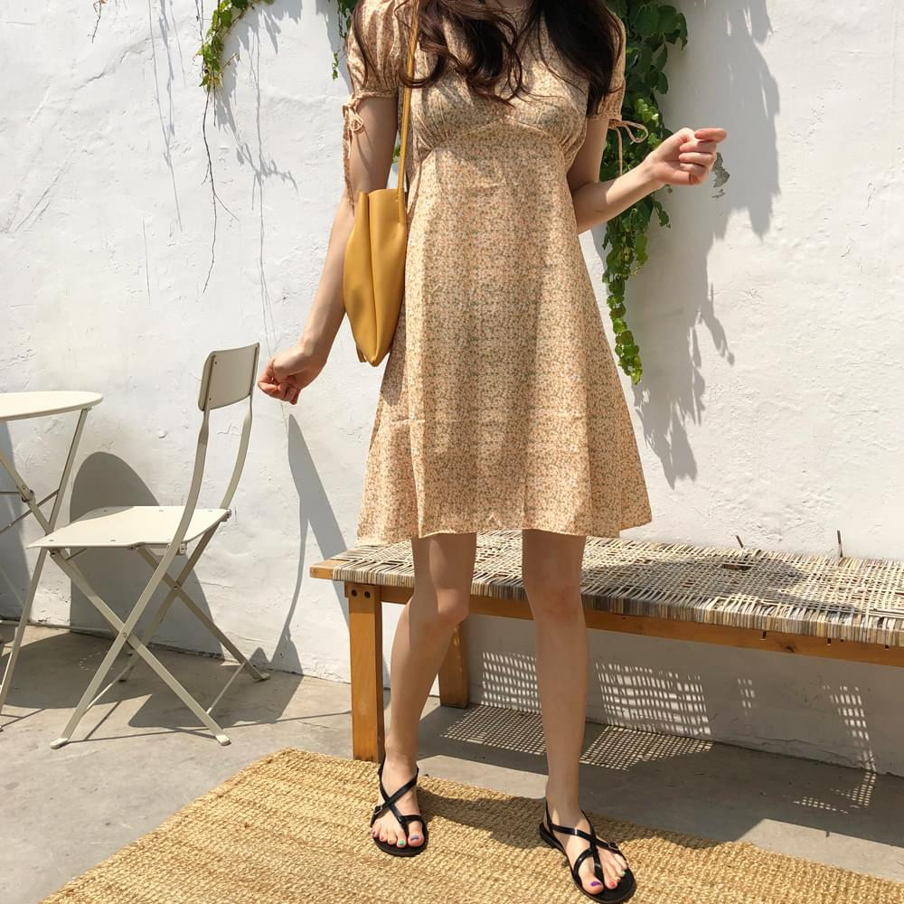 Lemon Color Chiffon Dress