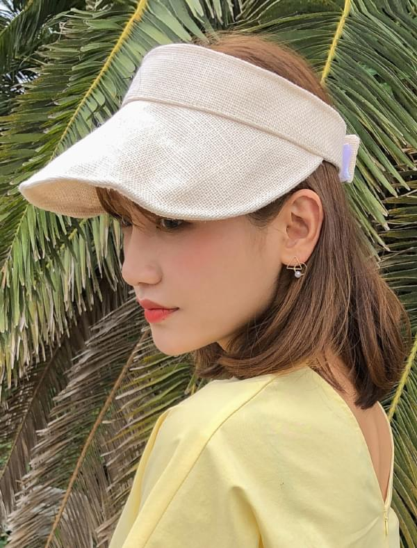 linen natural suncap