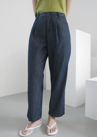fresh semi crop denim pants