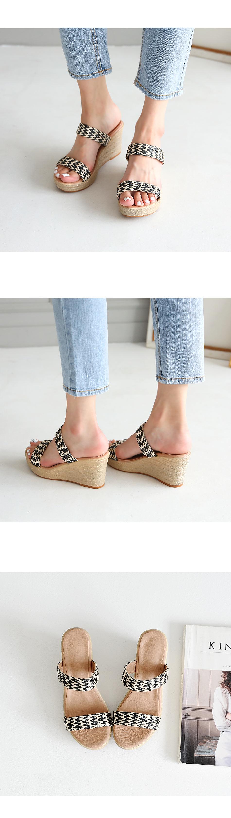 Marne Wedge Slippers 8cm