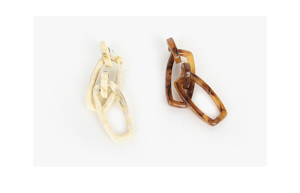 marble square earring
