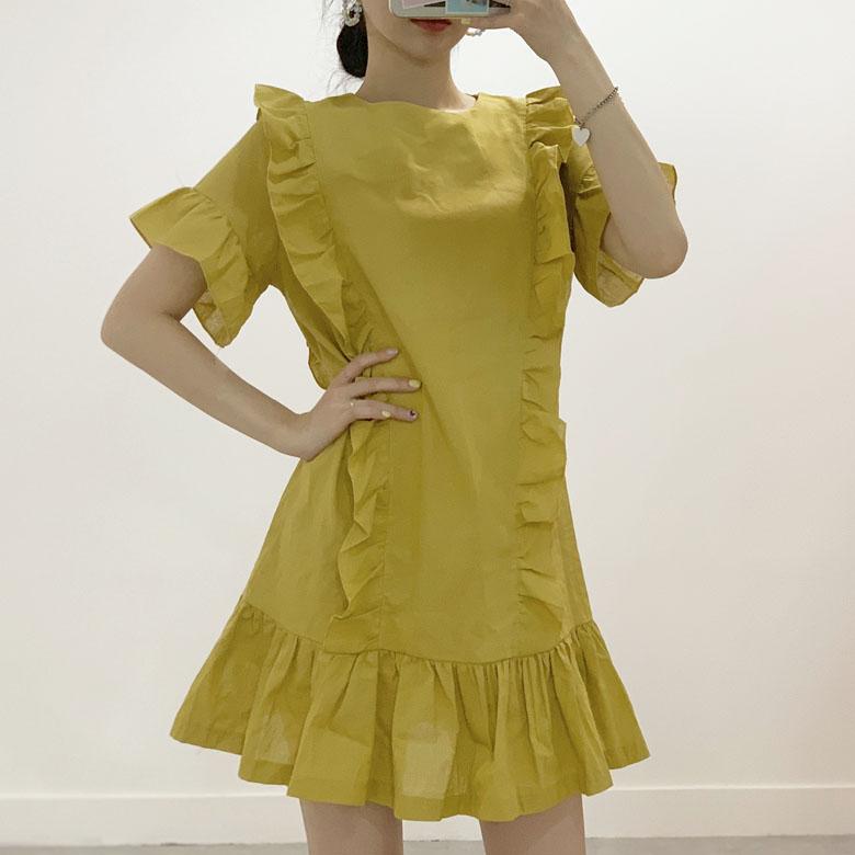 Chief Frill Mini Dress